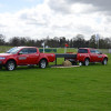 All the fences are in place, in cluding the iconic Mitsubishi L200s