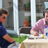 Sam Watson with Radio Badminton