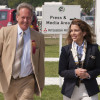 Her Royal Highness Princess Haya, FEI President being shown round the site by Hugh Thomas