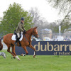 Zoe Wilkinson with Parkfield Quintessential - Winner of the 5yr old Burghley Young Event Horse Class, sponsored by Dubarry