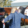 A big hug for Pippa Funnell after her test