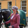Nicola Wilson with Annie Clover GBR at the first trot up