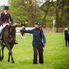 Nicola Wilson hands her whip to trainer Tracie Robinson