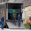 Andrew Heffernan's Olympic ride Millthyme Corolla is unloaded