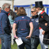 Performance manager Yogi Breisner and Zara Phillips after Tina Cook's test