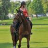 Swiss rider Jrina Giesswein with Thunder III