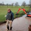 James Willis tidying up the Lake