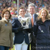 Sam Griffiths with Dinah Posford and her daughter Jules Carter , owners of Paulank Brockagh are presented with the Mitsubishi Motors Trophy by Lance Bradley,Managing Director of Mitsubishi Motors UK