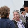 Avebury's owner Rosemary Barlow congratulates dressage trainer Annabel Scrimgeour