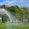 Watering the course
