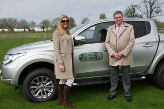 Mitsubishi Motors UK MD Lance Bradley with his wife Heather
