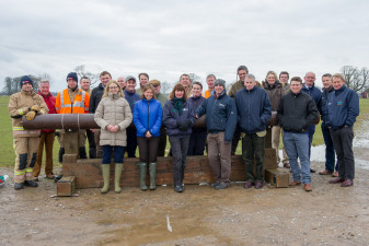 The attendees at the Vets and Fire Service day at Badminton