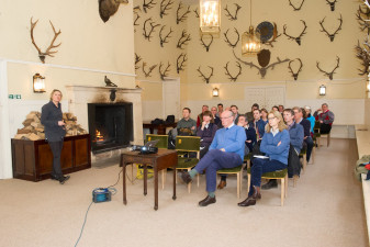 The vets meeting, Badminton House