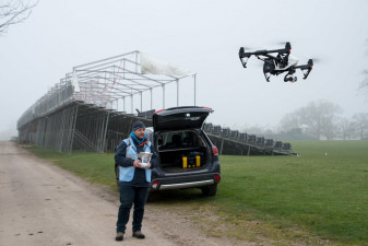 John Tasker from Whirlybird Imaging is responsible for the drone footage taken at Badminton