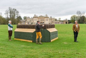 The Joules Corners with the spectactular backdrop of Badminton House