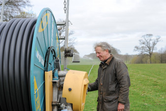 Harry Verney, Badminton's extremely long-standing Site Manager spends most of the spring here at Badminton