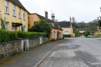 All is quiet in Badminton Village in April though the event site is starting to buzz