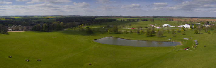 The Lake and Badminton House