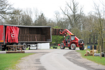Part of the transformation from country estate to international event venue