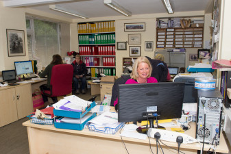 Sue Ansell is a long standing member of the very friendly Badminton Horse Trials office team
