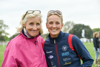 Lissa and Lucinda Green looking very happy after a superb round with 'Malin Head Clover'