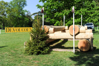 The Devoucoux Oxer - Would you believe this is a let-up fence?