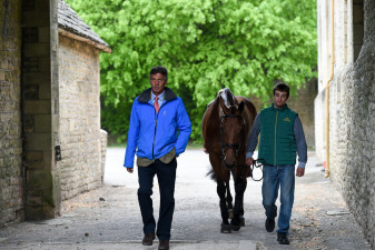 Andrew Nicholson on his way to the stables