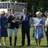 WINNER! Andrew Nicholson receives the trophy from the Duchess of Cornwall and the Duchess of Beaufort