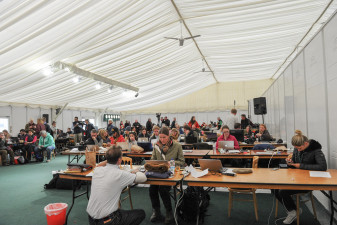 The media centre hard-at-work