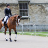 Paul Sims and 'Glengarnock' are fully-focused for Friday's dressage