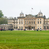 Many happy horses, grazing in front of Badminton House