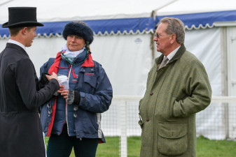 Will Furlong being debriefed by Hugh Thomas and Sarah Verney after his test
