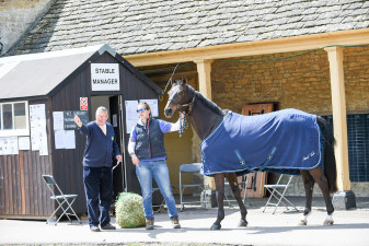 Lissa Mac Wayer arriving and receiving instruction from the team at stable management