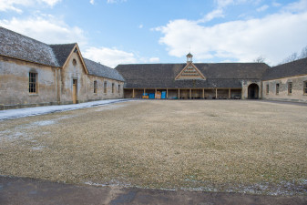 Badminton stable yard