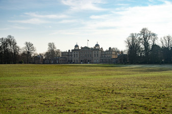Badminton house on a cold December day