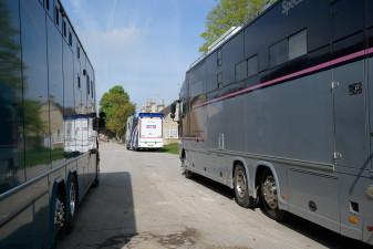 Horses arriving