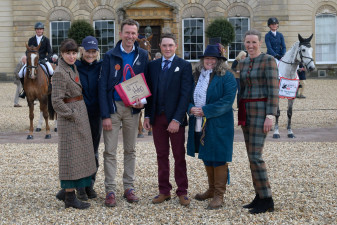 Winners of the Hiho Best Dressed at the first horse inspection, James Sommerville and Louisa Milne Home