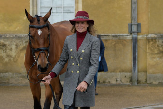 Sarah Bullimore is all smiles as she waits to present Reve du Rouet
