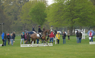 Fans watching on as the Dubarry Burghley Young Event Horse classes take place