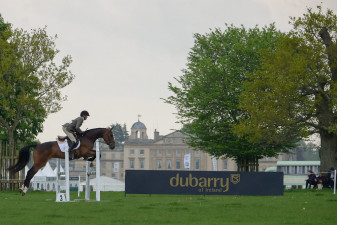 Clear over the third fence in Dubarry Burghley Young Event Horse class