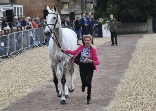 Louise Harwood looking super smart for the first horse inspection