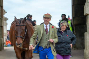 David Britnell beaming after flying through the final horse inspection with Continuity