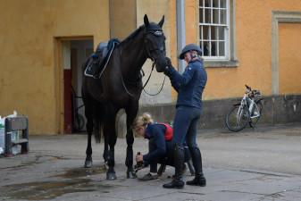 Nicola Wilson prepares to ride Bulana
