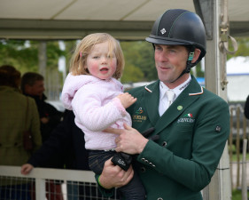 Joseph Murphy with daughter Daisy after his test