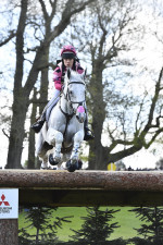 Emma Hyslop-Webb and Waldo III pinging in pink