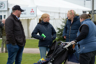 World Equestrian Games gold medalist and World Number 1, Ros Canter chatting after a course walk