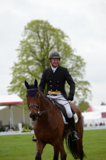 Matthew Heath is happy with his debut Badminton dressage test with The Lion