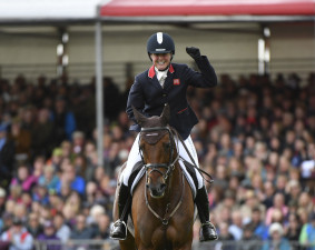 Piggy French (GBR) riding Vanir Kamira wins Badminton Horse Trials 2019