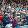 Crowds appreciating the show jumping action