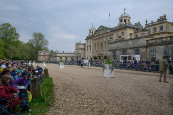 Lots of interest down in front of Badminton House